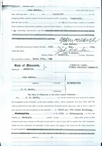 Excerpts from John Medvec's case file. I