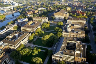 University of Minnesota campus and the Mississippi River. Image courtesy of University of Minnesota.