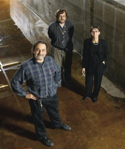 Chris Paola, Gary Parker, and Efi Foufoula, founders of the National Center for Earth-surface Dynamics. Image courtesy NCED, University of Minnesota.
