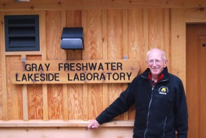 Dick Gray at the Gray Freshwater Lakeside Laboratory. Image courtesy of the Freshwater Society.