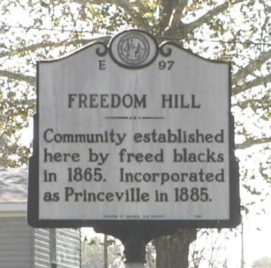 Originally known as Freedom Hill, Princeville was settled by freed slaves on an unwanted floodplain.