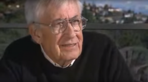 Clifford S. Holling in 1973, discussing his new concept of resilience. SOURCE: YouTube.