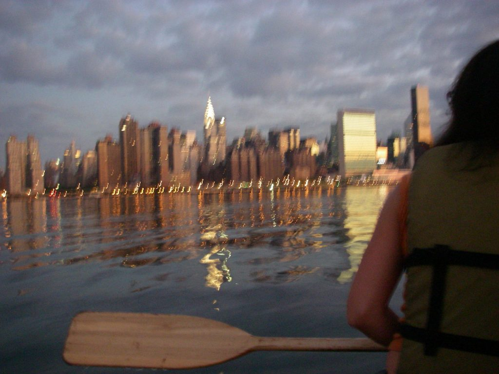 Fig. 9. 'we saw Manhattan in the morning light,' from Total Lunar Eclipse with Melissa Brown, Erinn Fierst, Brian Dunn, and Birgit Rathsman, 8/28/2007.