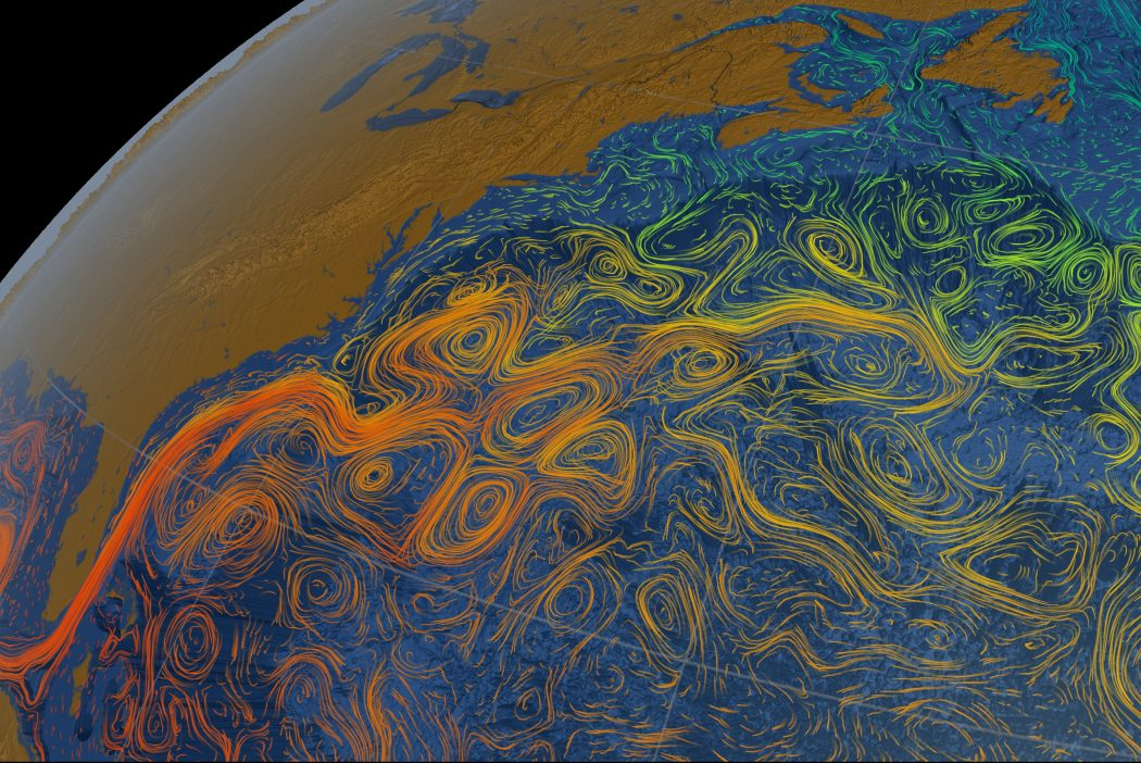 Detail from 'Ocean flows colored with sea surface temperature data,' NASA/Goddard Space Flight Center Scientific Visualization Studio. https://svs.gsfc.nasa.gov/cgi-bin/details.cgi?aid=3913.
