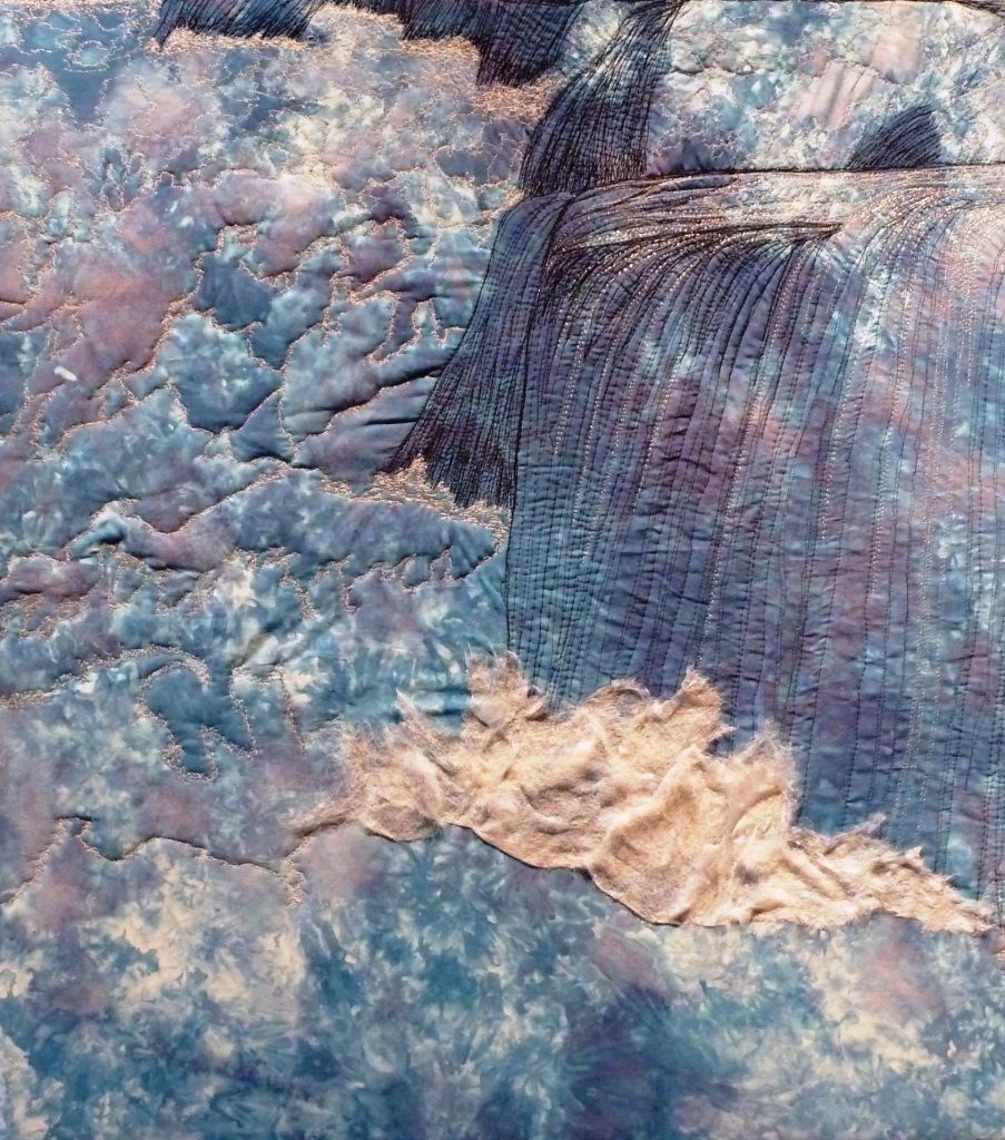 """""""Otokaheya"""" (In the Beginning), quilted fabric, Gwen Westerman, artist. Image courtesy of the artist."""