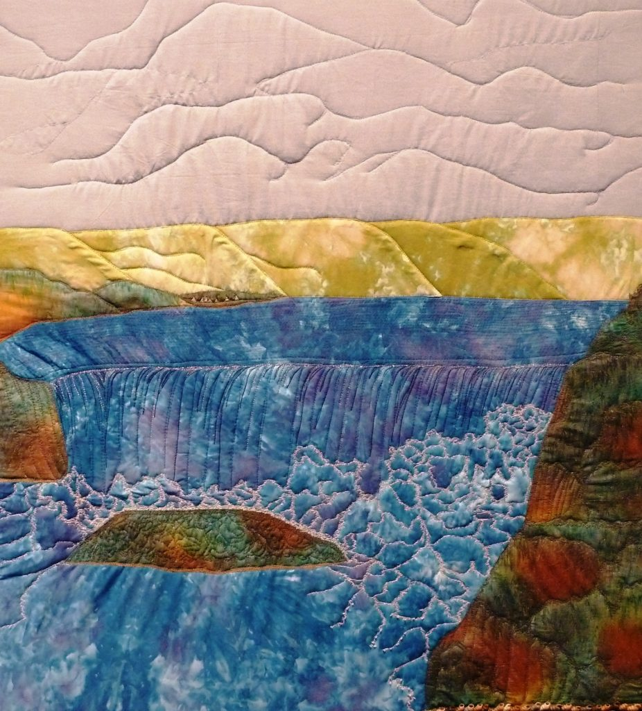 """""""Owamni Omni"""" (Whirlpool), quilted fabric, Gwen Westerman, artist. Image courtesy of the artist."""