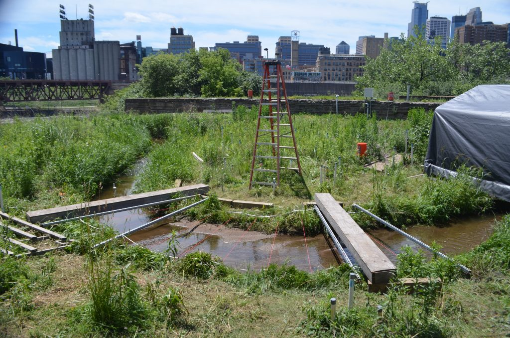 The Outdoor StreamLab at St. Anthony Falls Laboratory at the University of Minnesota. Image by Jessica Kozarek.