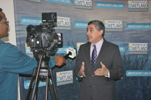 Media Interview of Commissioner Jay Dardenne, Louisiana's Director of Administration. Courtesy America's WETLAND Foundation.