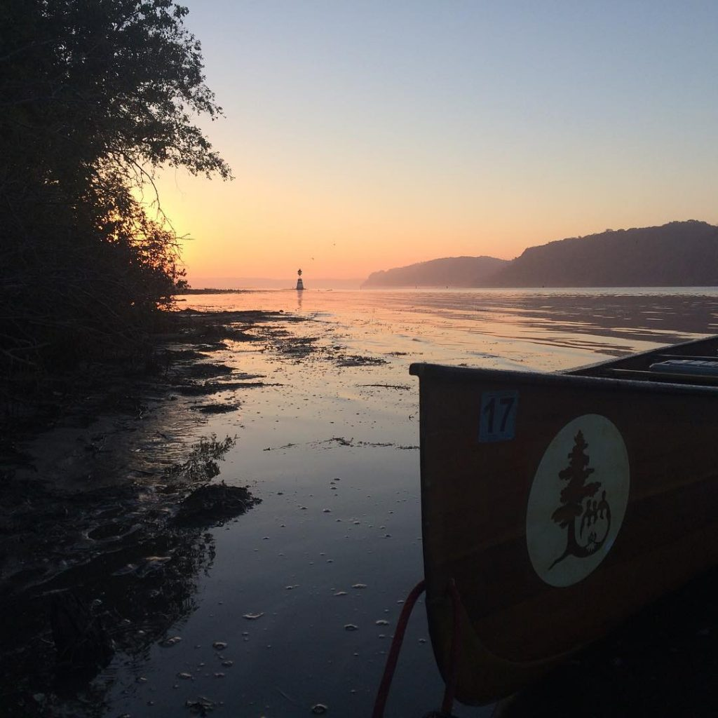 Sunrise over the Mississippi River at Pool 10. Image courtesy of river_semester Instagram.