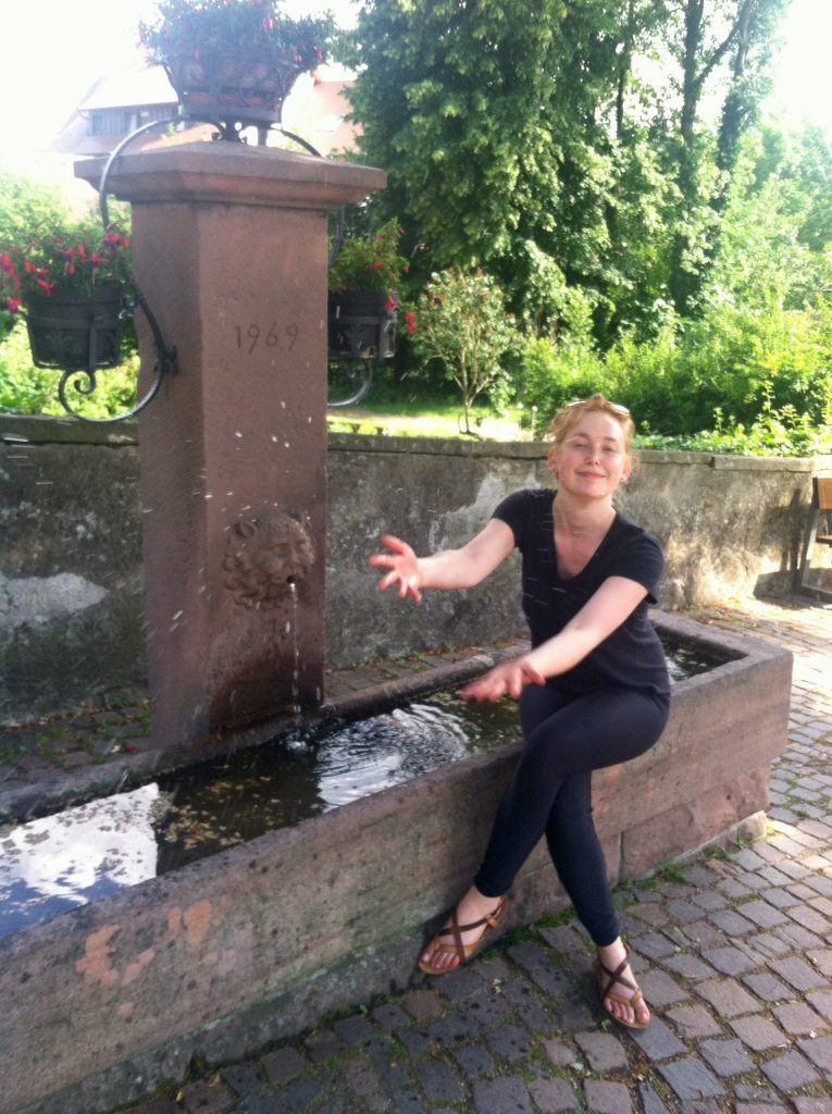 Drinking fountain near Freiburg, Germany. Image courtesy of Kristen Anderson.