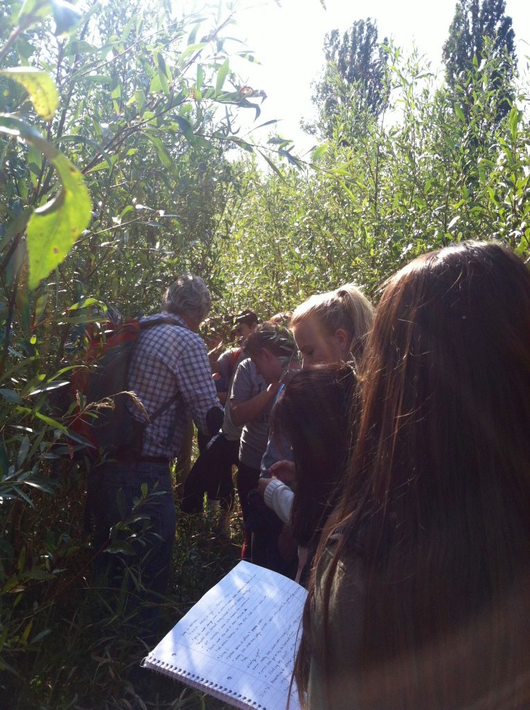 Students learn about a successful new flood mitigation forest several miles from another project facing opposition at Hartheim, Germany. Image courtesy of Kristen Anderson.