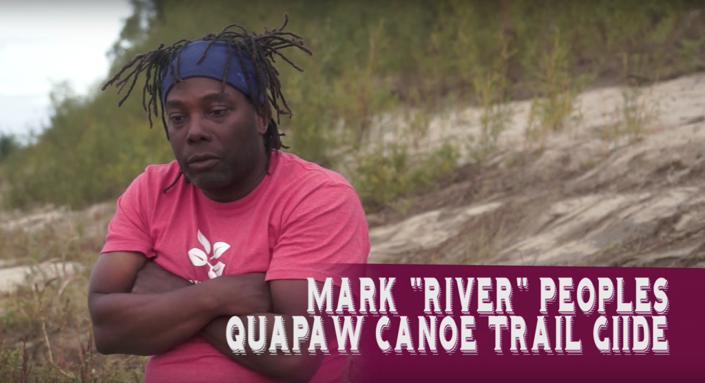 Mark 'River' Peoples Quapaw Canoe Trail Guide during his time as a guide for the Augsburg River Semester. Image courtesy of Ricky Taylor.