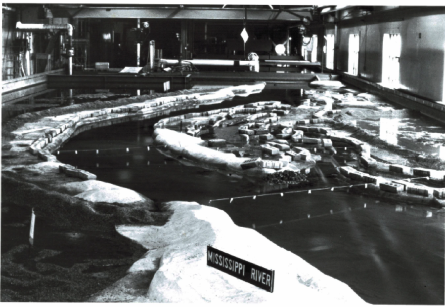 SAFL's Chippewa-Mississippi River Confluence physical model. Image courtesy of SAFL.