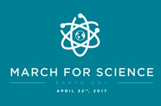 Logo for the 'March for Science' on Earth Day, 2017.
