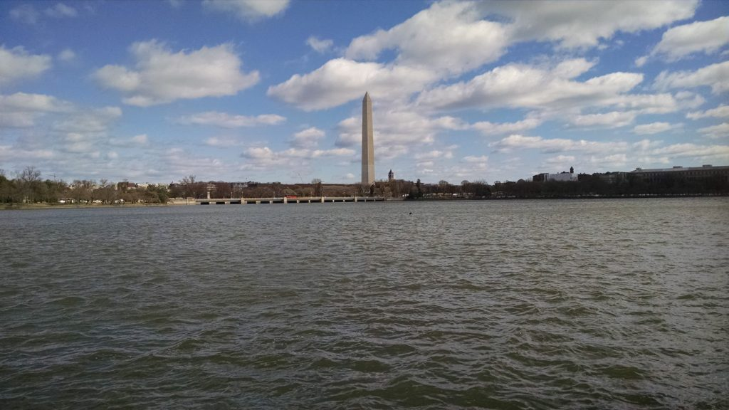 Figure 4: The Tidal Basin as it appeared during the authors' exploration in March 2017. Image by B.J. Little.