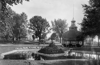 A shot of a pond in Bethesda, Wisconsin in 1868.