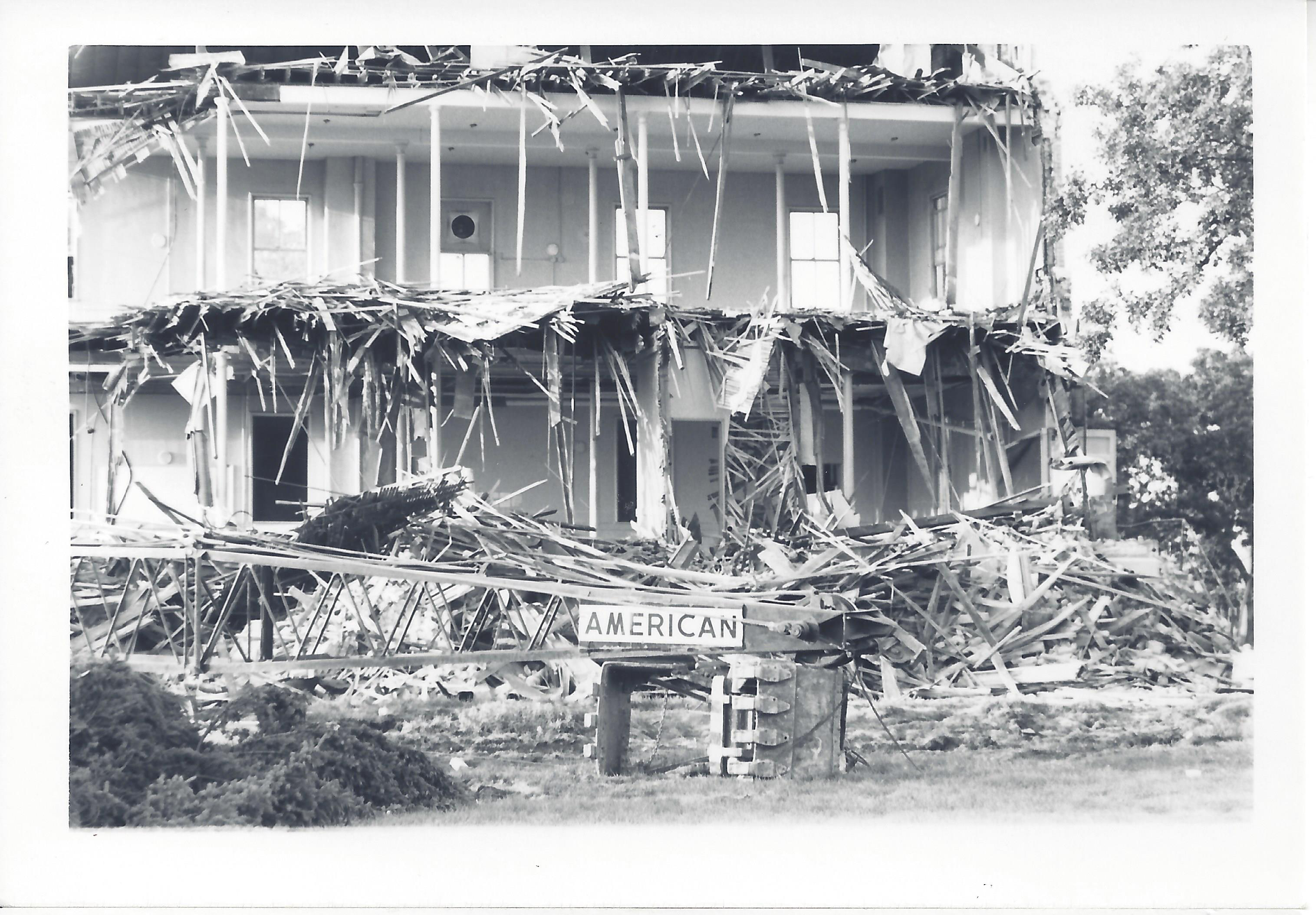 Barracks buildings on Taylor Avenue being torn down. Image by Richard E. Watson, M.D., courtesy of the author.
