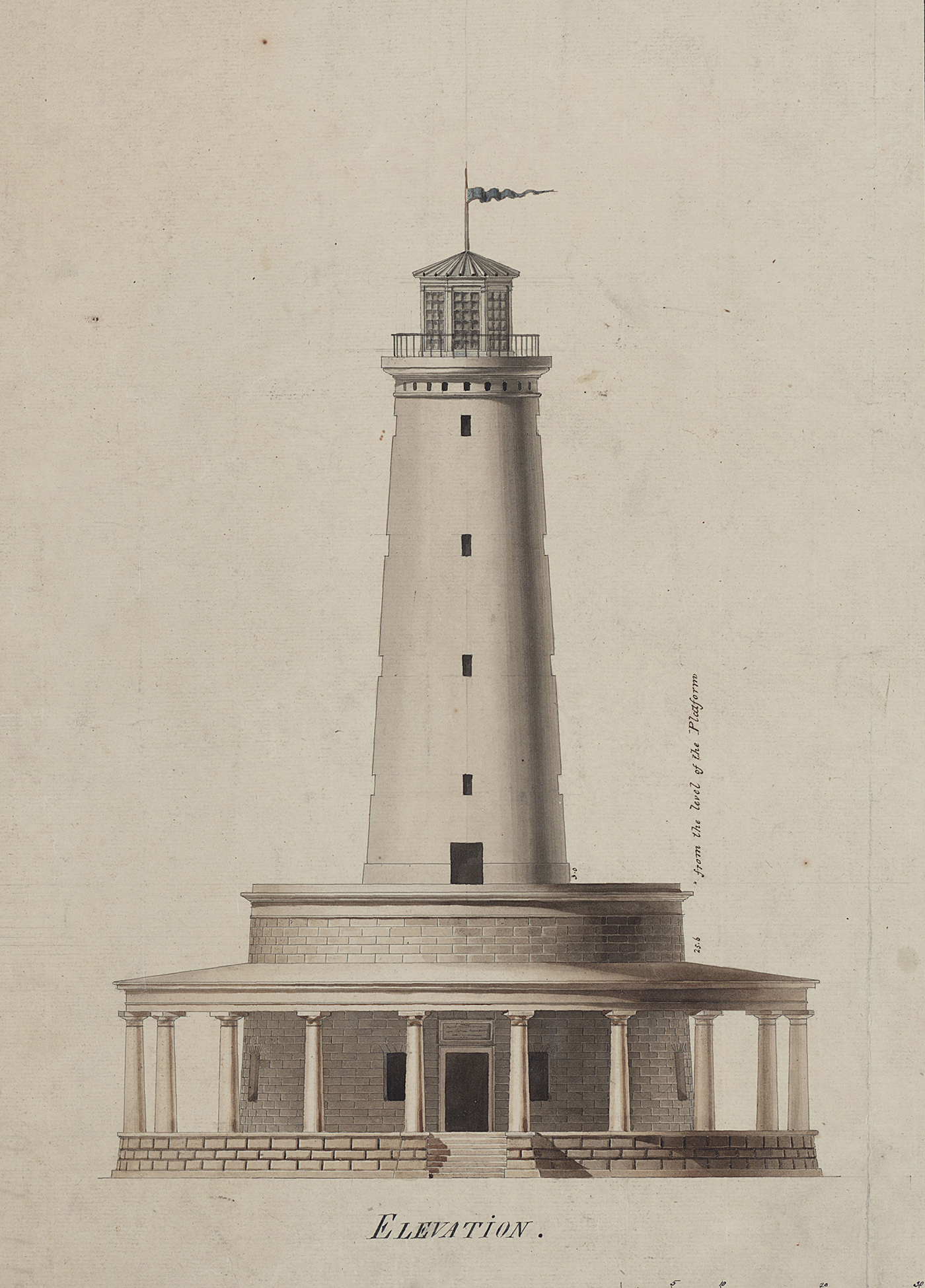 Figure 9b: Detail from Frank's Island Lighthouse, New Orleans coast.