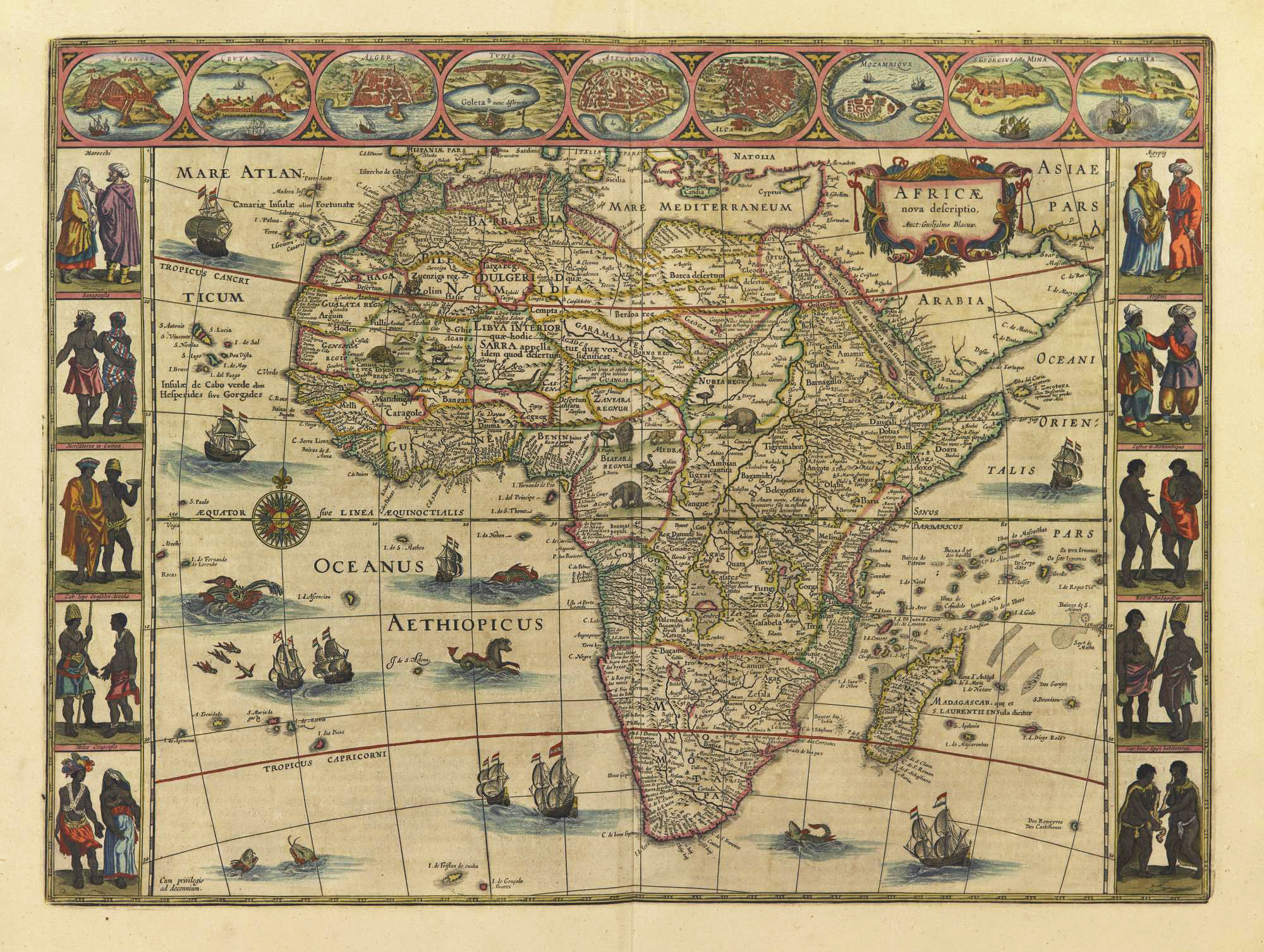Africa. Joan Blaeu, Le grand atlas, vol. 10. Amsterdam, 1667. (Bell Library 1667 oBl)