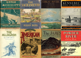 Select covers from the Rivers of America book series.