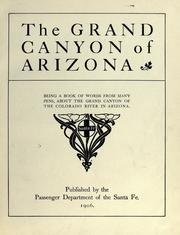 Cover of 'The Grand Canyon of Arizona'