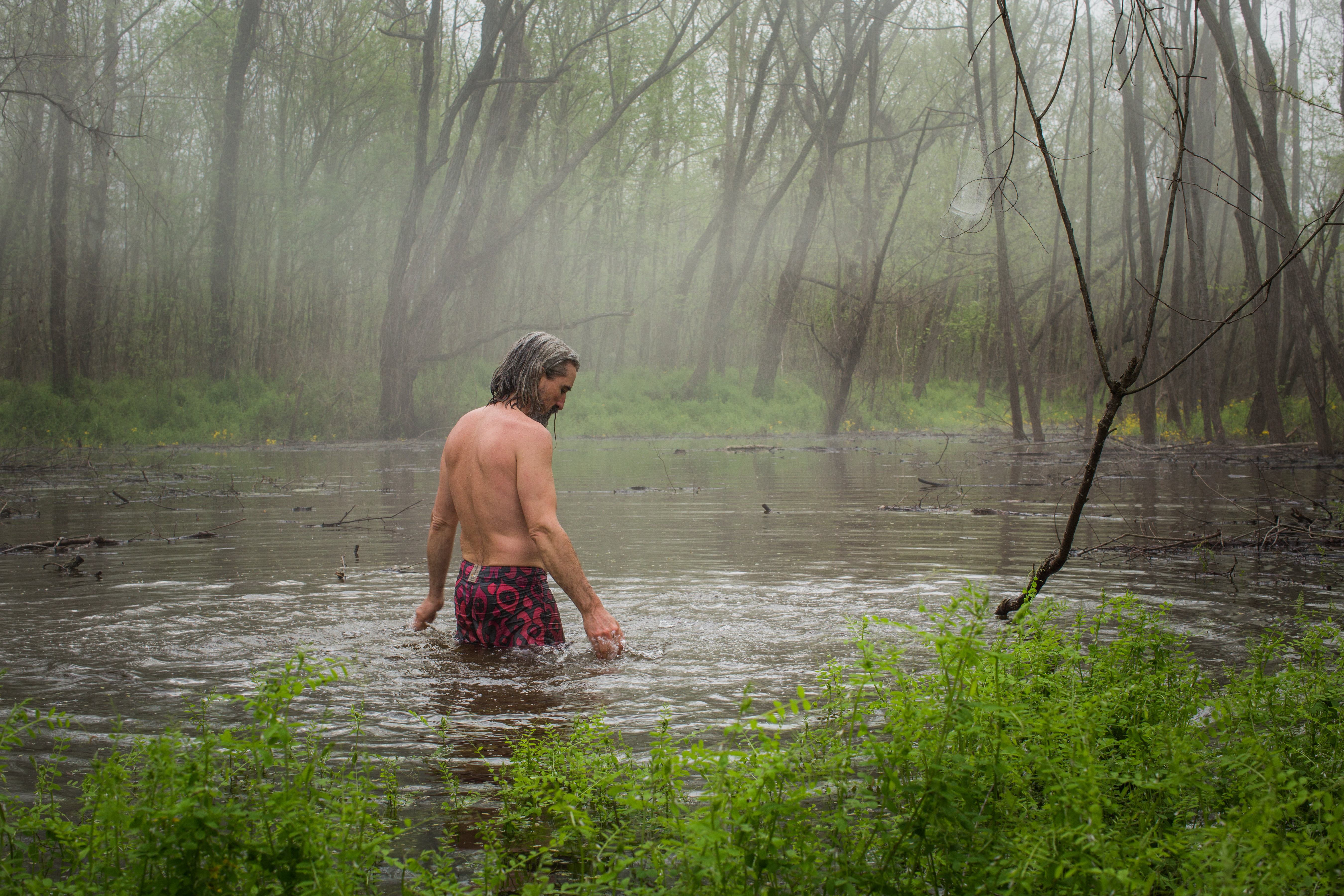 Contemplating the wetlands. From the Atchafalaya Rivergator Expedition of 2015. Image courtesy of David Hanson.