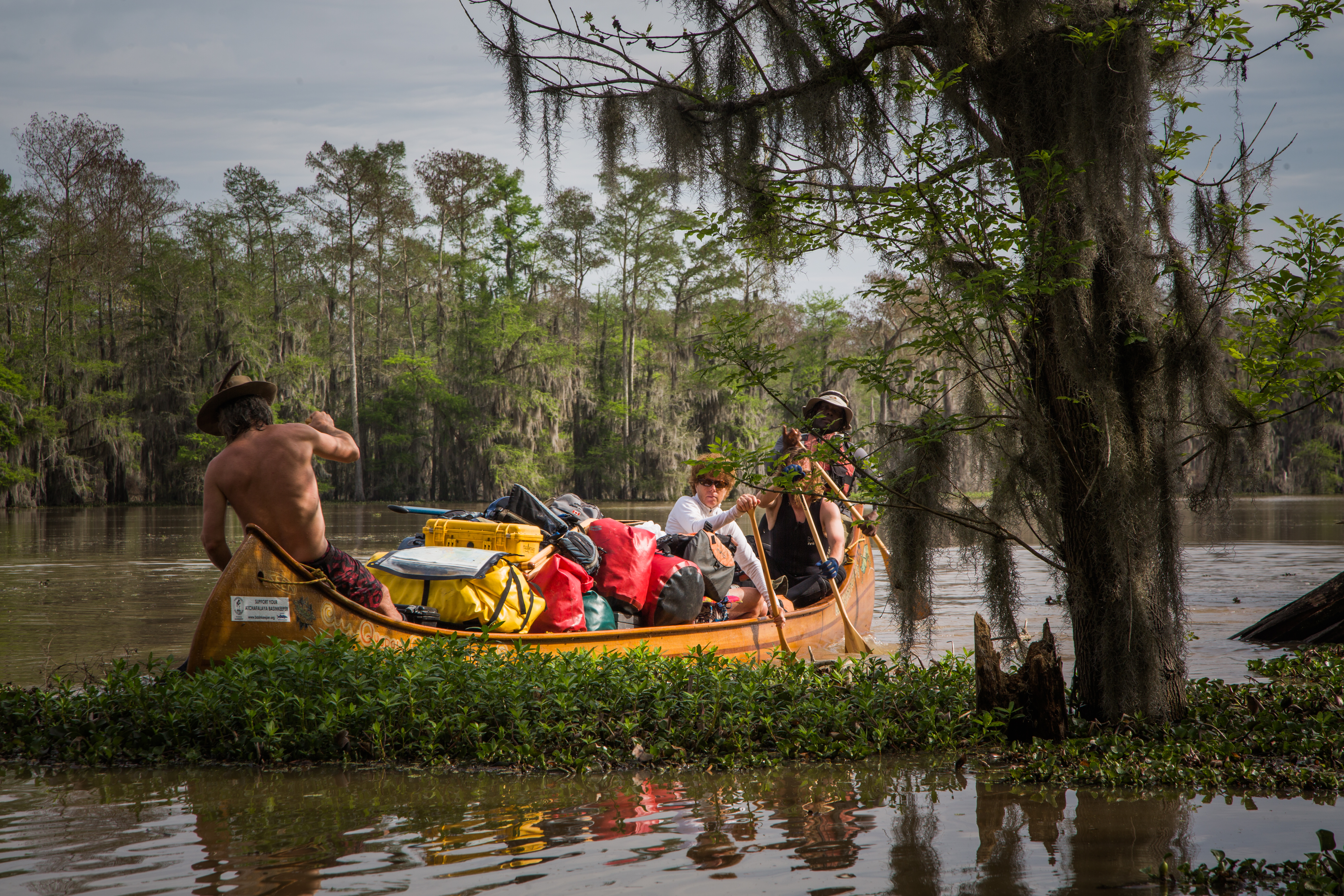 Fully loaded on the Atchafalaya River from the Atchafalaya Rivergator Expedition of 2015. Image courtesy of David Hanson.