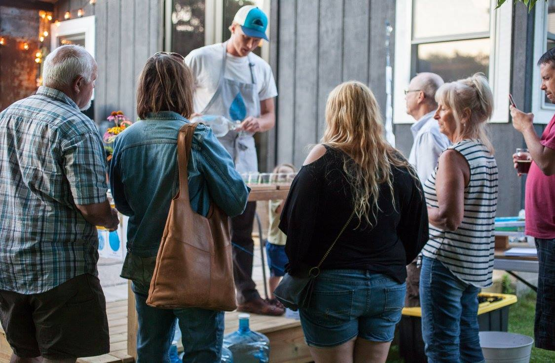 Water Bar pop-up at Goat Ridge Brewery in New London, Minnesota.