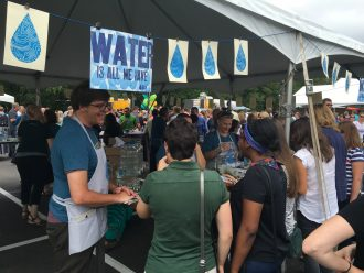 A Water Bar pop-up for Land-O-Lakes employees at their headquarters.