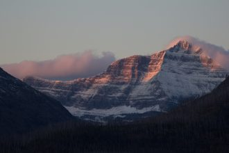 First snow at Triple Divide Peak. Image courtesy of Daniel Lombardi.
