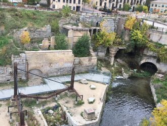 The Mill Ruins in the St. Anthony Falls Heritage Zone, Minneapolis. Image courtesy of River Life, University of Minnesota.