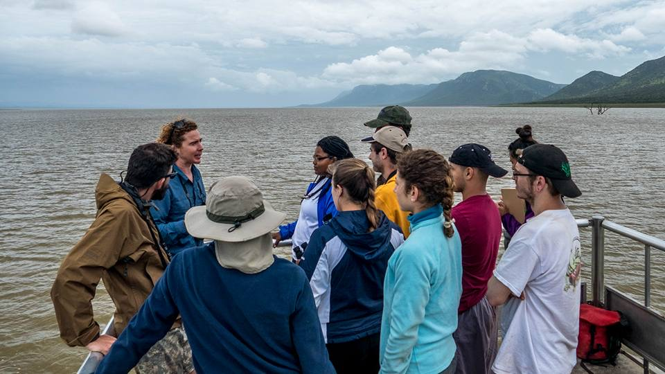 Lecture from Peter Calverly in the Pongolapoort Nature Reserve. Image courtesy of James Vonesh.