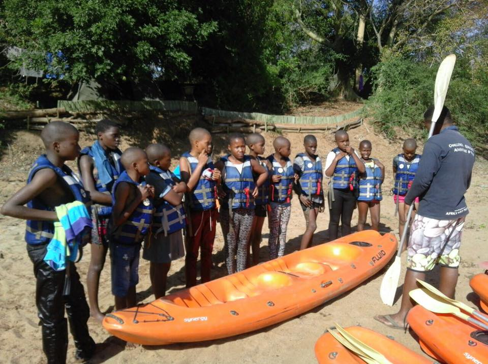 Local school children being taught about the ecological issues associated with drought and water mismanagement. Image courtesy of the Pongola River Company.