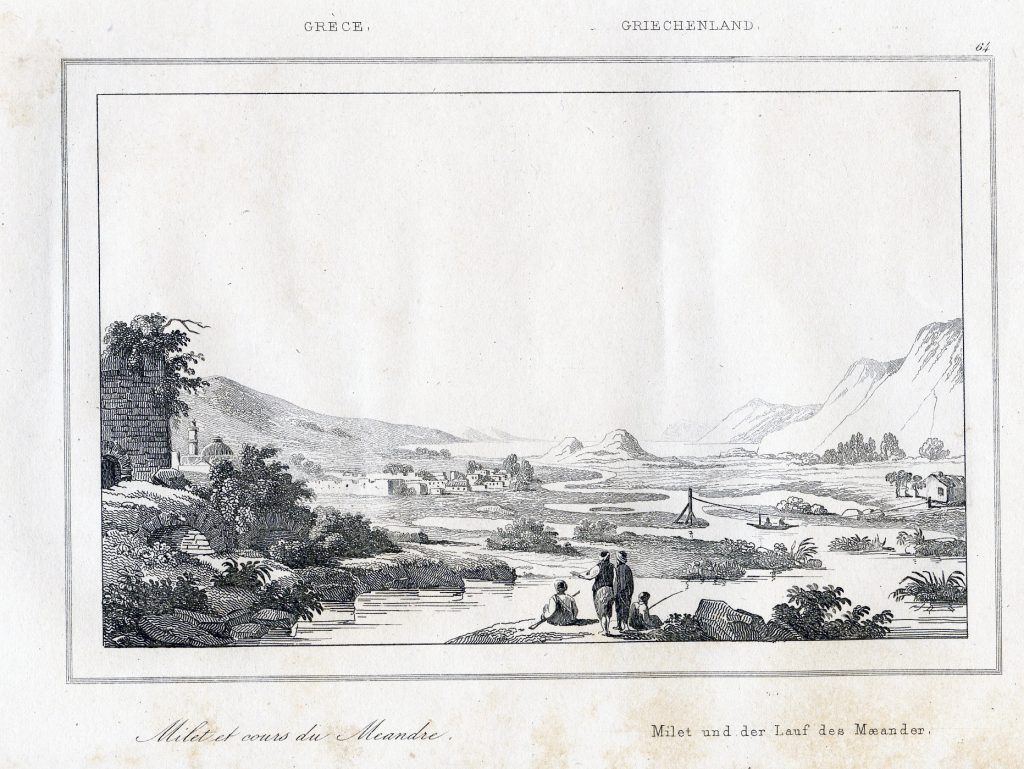 M. Pouqueville, 'Milet et cours du Meandre,' (Miletus and the course of the Meander) Paris: Firmin Didot frères, 1835.