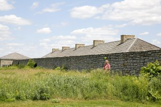 Field work at Fort Snelling. Image courtesy of Lisa Miller, University of Minnesota.