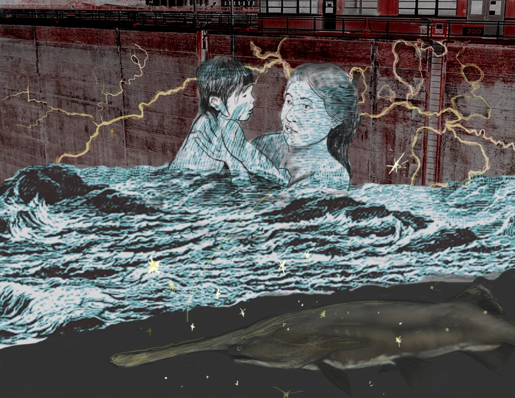 """""""Returning the River"""" by Molly Van Avery, Dameun Strange, and Michael Hoyt. Image courtesy of Michael Hoyt."""