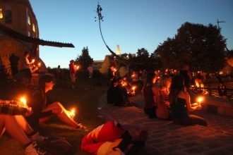 Memorial event for missing and murdered Indigenous women and girls. Winnipeg, July 2015. Image courtesy of Caroline Doenmez.
