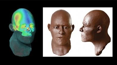 Computer reconstruction of a early Human ancestor.