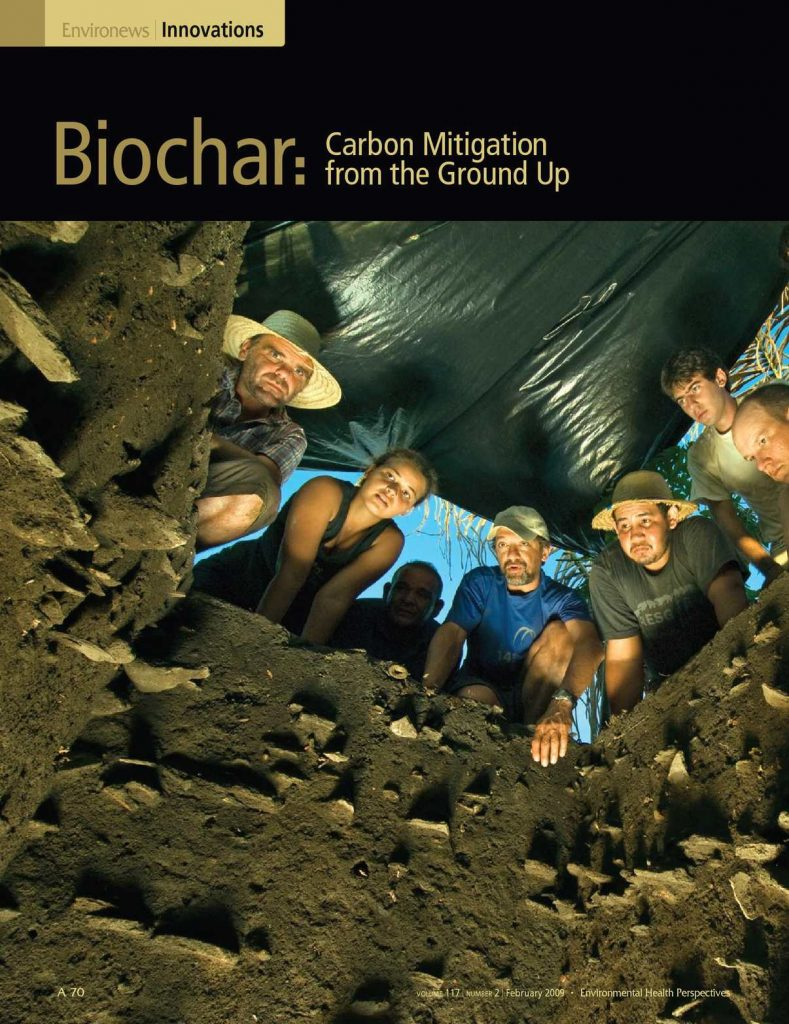 Cover of 'Biochar: Carbon Mitigation from the Ground Up.'
