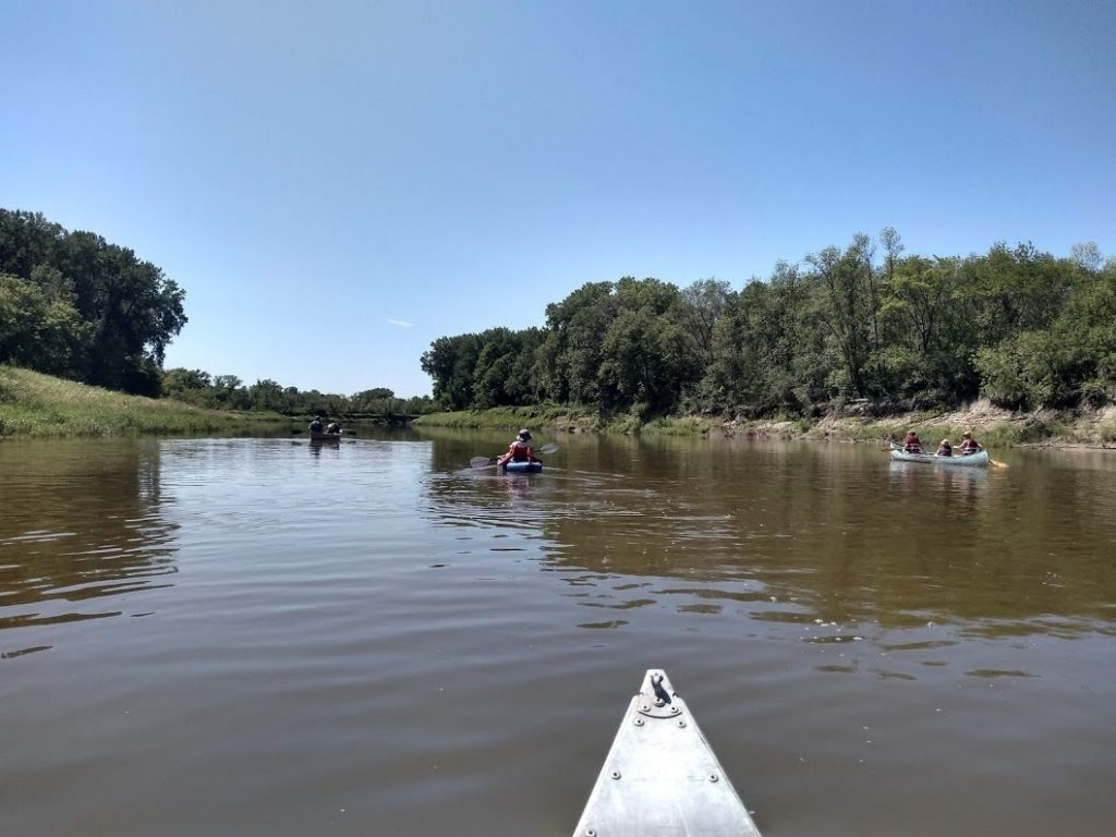 RSDP staff and board members paddling the Red Lake River near Crookston, Minnesota. Image courtesy of Caryn Mohr.