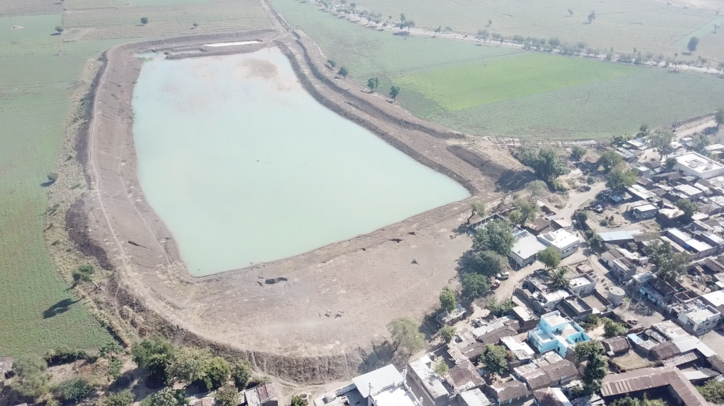 Aerial view of Dhamori Pond. Image courtesy of the author.