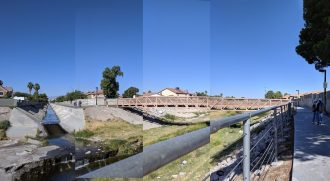 Along the Flamingo Arroyo Wash and Bike Trail where the wetland is fed primarily by urban runoff. Image courtesy of the author.