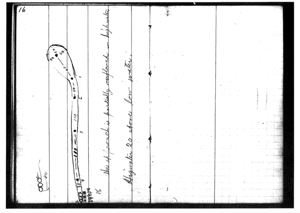 Detail from Lewis, T. H. (1887). Science 9 (220): 393–94 [Measurements from 6-25-1883 journal, pp. 15–16].