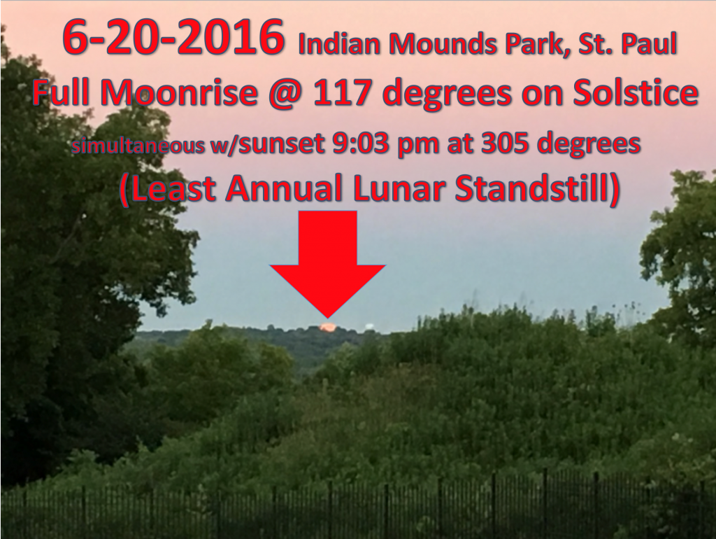 Solstice at Indian Mounds Park. Image courtesy of Jim Rock.