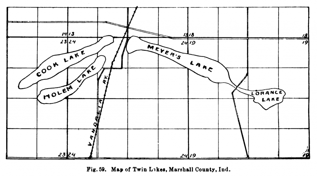 Map of Twin Lakes, 1900.