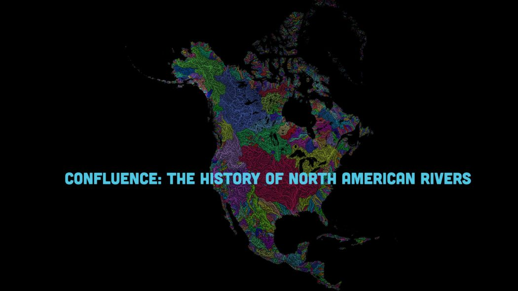 Illustration of major rivers for 'Confluence: The History of North American Rivers' courtesy of Robert Szucs, www.grasshoppergeography.com.