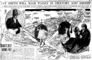 "Fig. 3. ""Art Smith Will Soar To-Day in Oratory and Airship,"" San Francisco Examiner, May 1, 1915, 3."