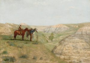 Fig. 10. Thomas Eakins, Cowboys in the Badlands, 1888. Oil on canvas, 81.9 x 114.3 cm (32 1/4 x 45 in.), Private Collection. Photo c 2009 Christies Images / Bridgeman Images.