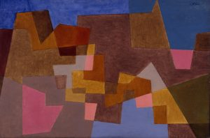 Fig. 13. Paul Klee, Überbrückung, 1935. Oil on canvas, 17 x 25 3/4 in. Mildred Lane Kemper Art Museum, Washington University in St. Louis, MO. University purchase, Kende Sale Fund, 1945.
