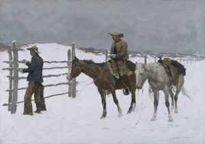 Fig. 3. Frederic Remington, The Fall of the Cowboy, 1895. Oil on canvas, 25 x 35 1/8 in. Amon Carter Museum of American Art, Fort Worth, Texas. 1961.230